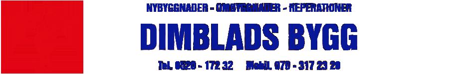 Dimbladsbygg AB Logotyp